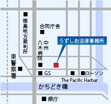 地図/うずしお法律事務所